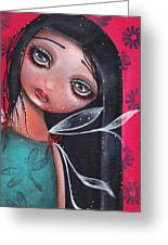 Perla Greeting Card by  Abril Andrade Griffith