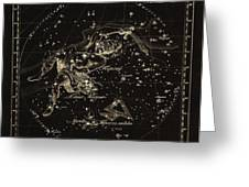 Perseus Constellations, 1829 Greeting Card by Science Photo Library