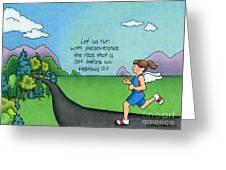 Perseverance Greeting Card by Sarah Batalka