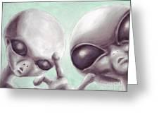 Personal Space Invaders Greeting Card by Samantha Geernaert