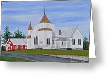 Peru Congregational Church Greeting Card by Sally Rice