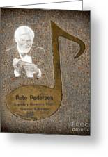 Pete Pedersen Note Greeting Card by Donna Van Vlack