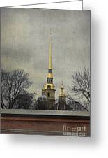 Peter And Paul Fortress Greeting Card by Elena Nosyreva