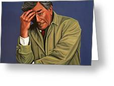 Peter Falk As Columbo Greeting Card by Paul Meijering
