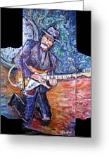 Peter Parcek Plays The Blues Greeting Card by Jason Gluskin