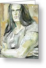 Peter Steele Portrait.2 Greeting Card by Fabrizio Cassetta