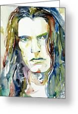 Peter Steele Portrait.4 Greeting Card by Fabrizio Cassetta