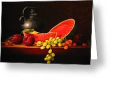 Petite watermelon Greeting Card by Sean Taber