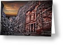 Petra The Treasury Greeting Card by Dan Yeger