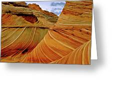 Petrified Sand Dunes The Wave Greeting Card by Ed  Riche