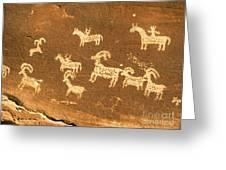 Petroglyphs, Utah Greeting Card by David Davis