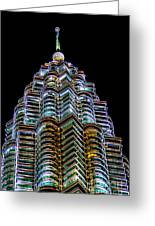 Petronas Tower Greeting Card by Adrian Evans