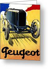 Peugeot Advert Greeting Card by Lyle Brown