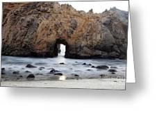 Pfeiffer Beach Arch Greeting Card by Jenna Szerlag