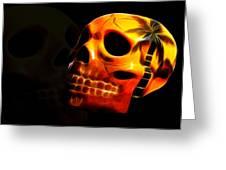 Phantom Skull Greeting Card by Shane Bechler