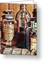 Pharmacy - Chloroform Throat Lozenges Greeting Card by Paul Ward