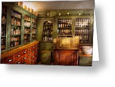 Pharmacy - Room - The Dispensary Greeting Card by Mike Savad