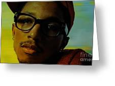 Pharrell Williams Greeting Card by Marvin Blaine
