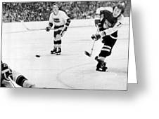 Phil Esposito In Action Greeting Card by Gianfranco Weiss