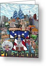 Philadelphia Greeting Card by Brett Sauce
