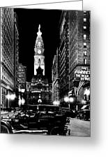 Philadelphia City Hall 1916 Greeting Card by Benjamin Yeager