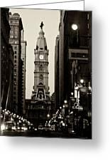 Philadelphia City Hall Greeting Card by Louis Dallara