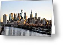 Philadelphia In The Morning Light Greeting Card by Bill Cannon