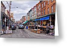 Philadelphia Italian Market 2 Greeting Card by Jack Paolini
