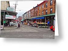 Philadelphia Italian Market 4 Greeting Card by Jack Paolini