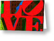 Philadelphia Love - Painterly V1 Greeting Card by Wingsdomain Art and Photography