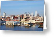 Philadelphia River View Greeting Card by Bill Cannon