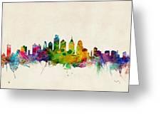 Philadelphia Skyline Greeting Card by Michael Tompsett