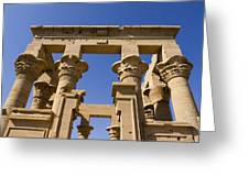 Philae Temple Egypt Greeting Card by Brenda Kean