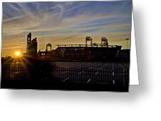 Phillies Citizens Bank Park At Dawn Greeting Card by Bill Cannon