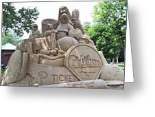Phillies Sandsculpture Greeting Card by Barbara McDevitt