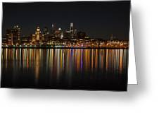 Philly Night Greeting Card by Jennifer Lyon