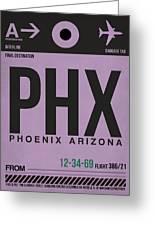 Phoenix Airport Poster 1 Greeting Card by Naxart Studio