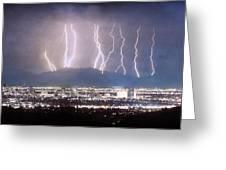 Phoenix Arizona City Lightning And Lights Greeting Card by James BO  Insogna