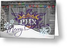 Phoenix Suns Greeting Card by Joe Hamilton