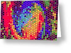 PHONE CASE ART COLORFUL INTRICATE ABSTRACT GEOMETRIC DESIGNS BY CAROLE SPANDAU 129 CBS ART EXCLUSIVE Greeting Card by CAROLE SPANDAU