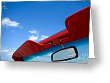 Photo Of Convertible Car And Blue Sky Greeting Card by Paul Velgos