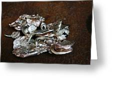 Photo Of Mixed Metal Sculpture Greeting Card by Matthew Brzostoski