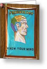Phrenology Greeting Card by Garry Gay