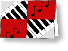 Piano Abstract 3 Greeting Card by Andee Design