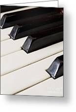 Piano Keys Greeting Card by Jelena Jovanovic