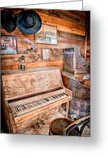 Piano Man Greeting Card by Cat Connor