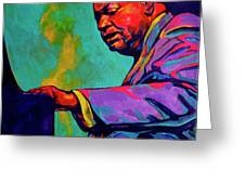 Piano Player Greeting Card by Derrick Higgins