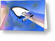 Piano Greeting Card by Rick Thiemke