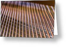 Piano Strings Greeting Card by Chris McCown