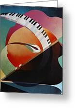 Pianoforte Greeting Card by Fred Chuang